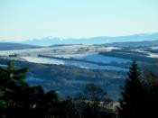 Pohled z chaty přes Žítkovou