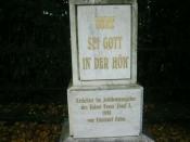 Kříž před sklárnou v Květné (autor: Jaegerndorfer)