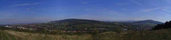 Velká nad Veličkou - pohled na obec