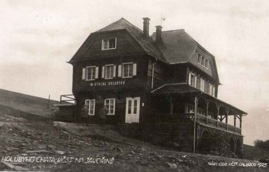 Holubyho chata v roce 1925