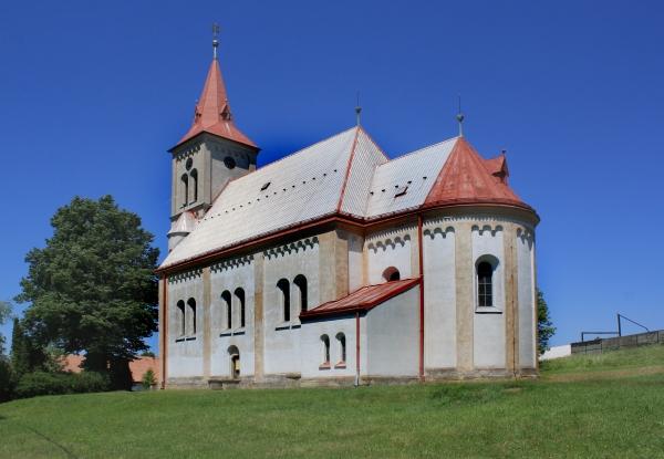 Kostel svatého Vavřince v Květné (autor: Pavel Hrdlička, WIkipedia)