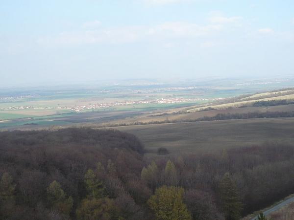 rozhledna Travičná - výhled (autor: Marzper)