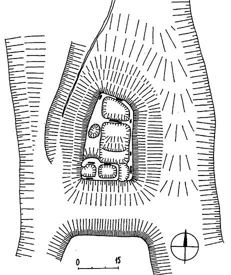 Kanšperk - terénní náčrt hradu (autor: M. Plaček)